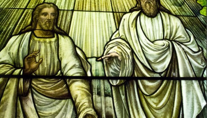 Stained Glass Image of God the Father and Jesus Christ