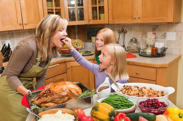 Family cooking their favorite meal together