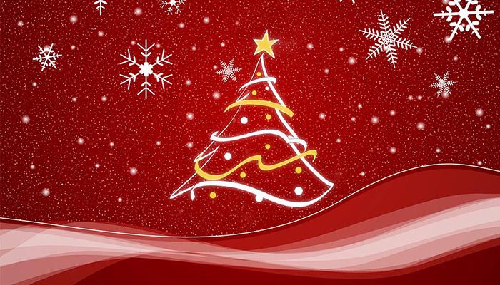Christmas scene in red