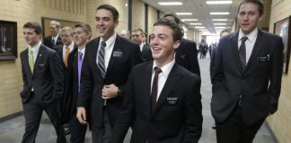 Mormon missionaries at the Missionary Training Center