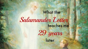The Salamander Letter and Moroni teaching Joseph Smith
