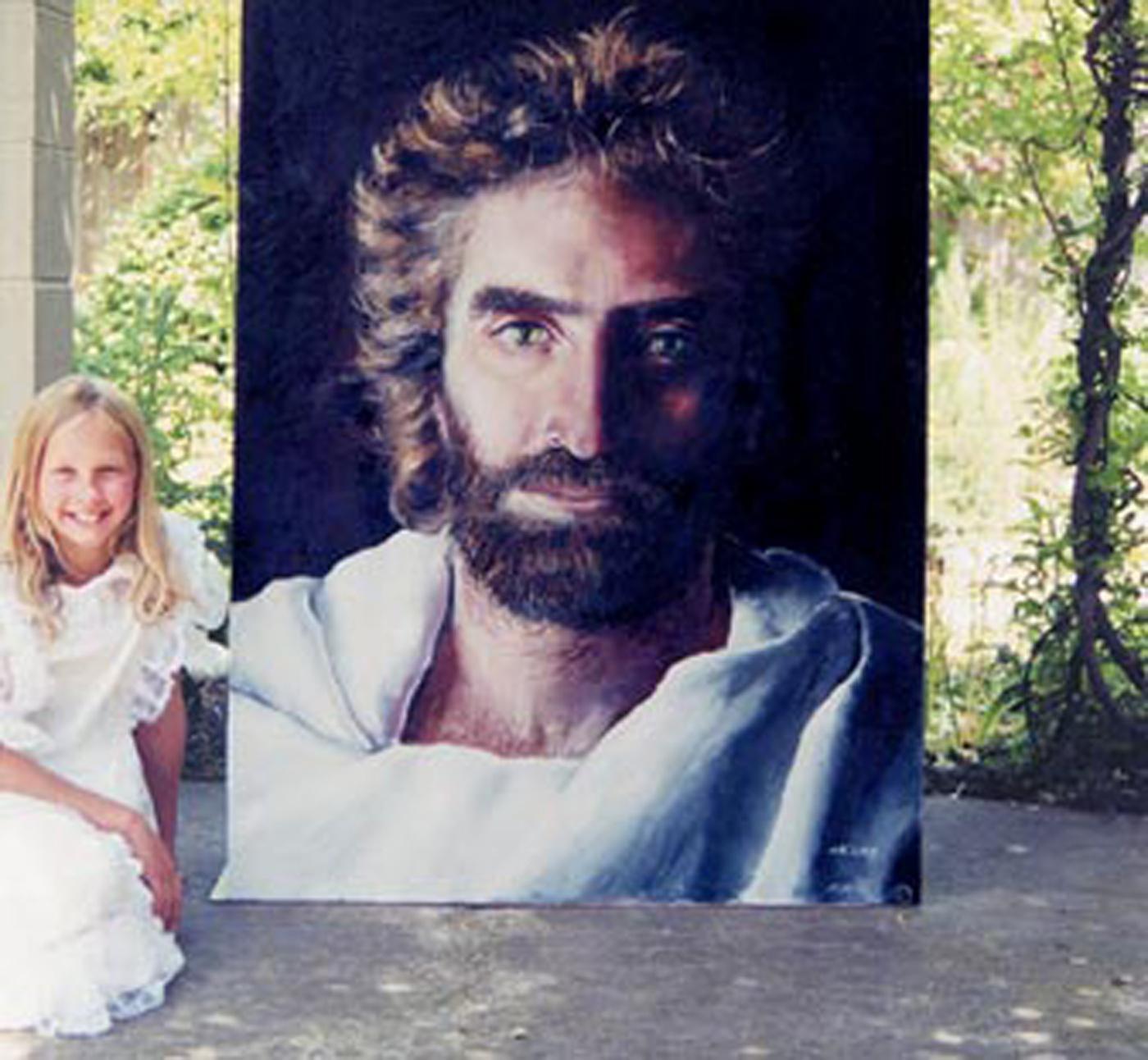 "Akiane Kramarik and ""Prince of Peace"" her portrait of Jesus Christ based on her visit to heaven"