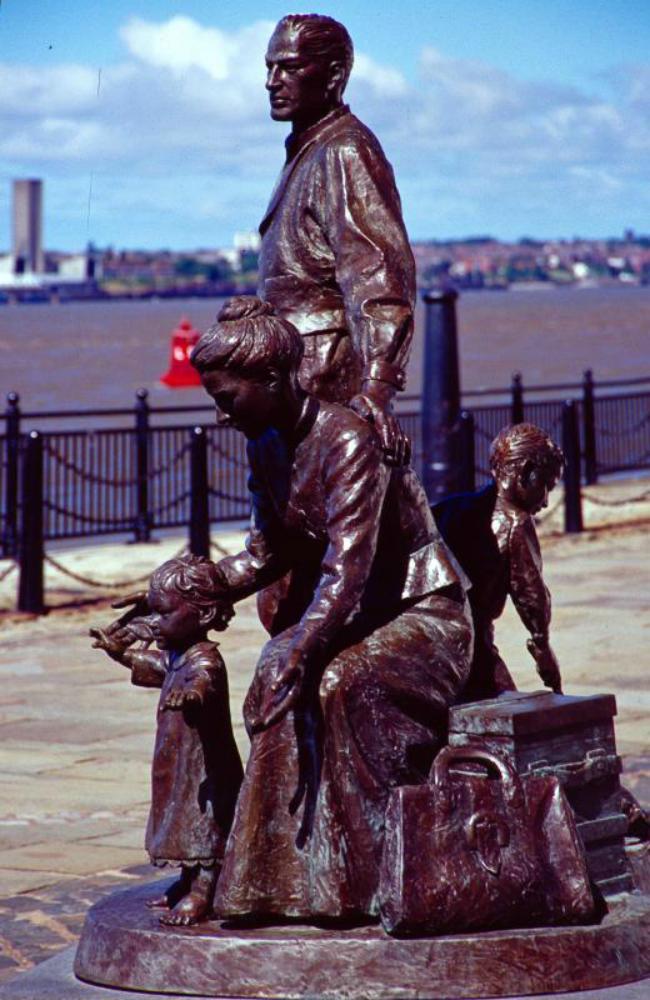 Albert Dock Legacy the Emigrants