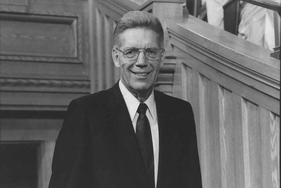 Elder Bruce R McConkie in Tabernacle