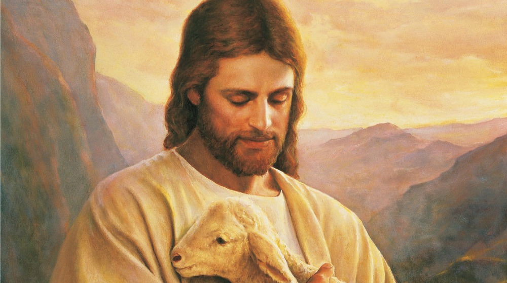 Painting of Jesus Christ Carrying Lamb