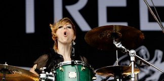 Elaine Bradley plays drums for the band Neon Trees