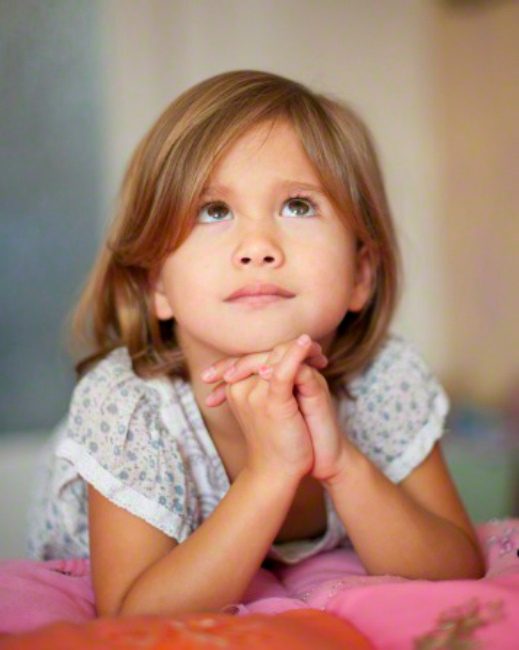 Girl at prayer