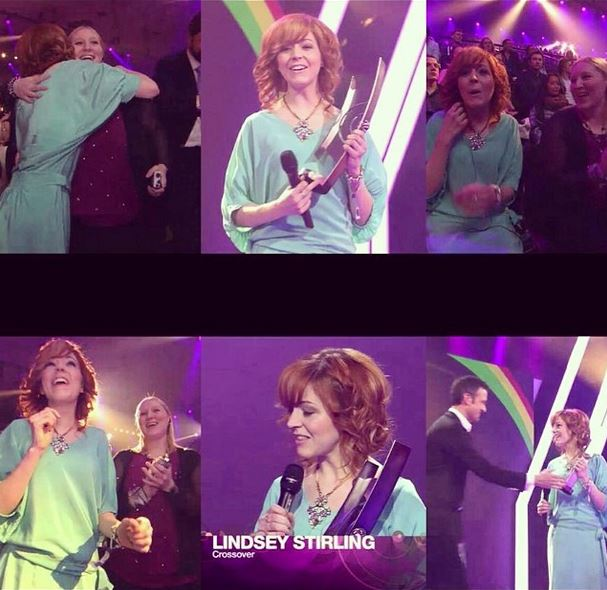 Lindsey Stirling's Instagram photos of her Echo Award win