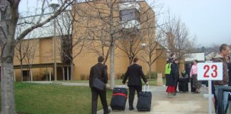Missionaries enter the MTC