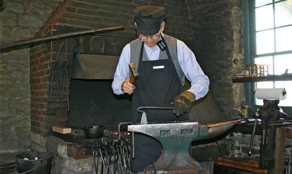 Missionary Works in the Historic Nauvoo Blacksmith Shop