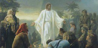 Jesus Christ comforts the Nephites