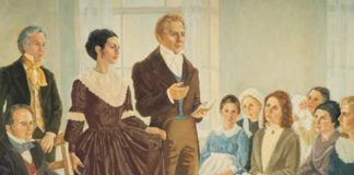 Joseph Smith organized the Relief Society. Emma Smith first president