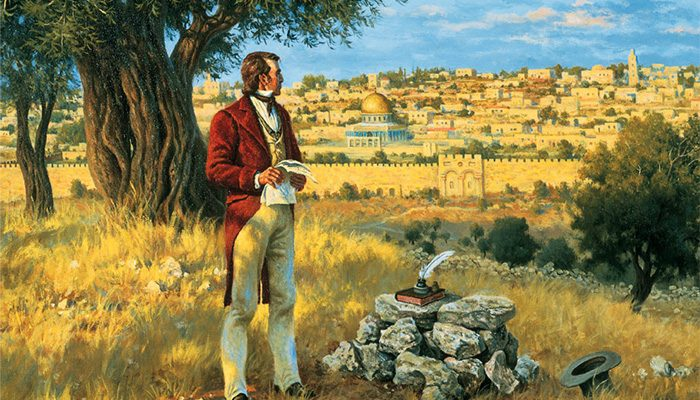 Orson Hyde dedicates the Holy Land for the preaching of the gospel