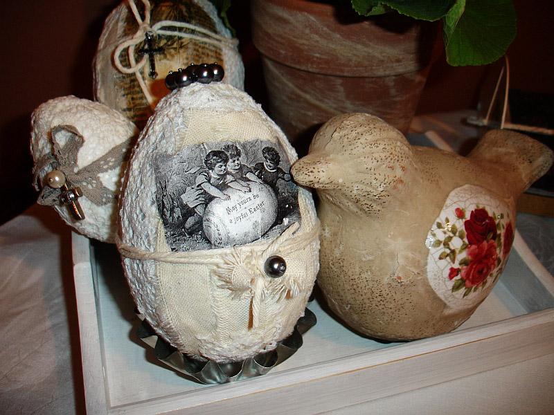 Elaborately decorated Polish Easter Egg in the naklejanki style