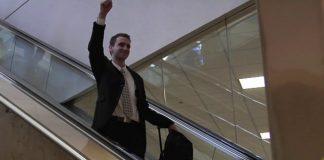 A Mormon missionary returns home