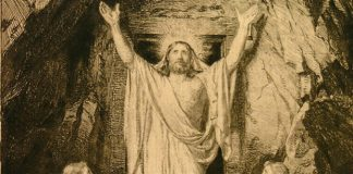 Christ stands outside the tomb by Carl Heinrich Bloch