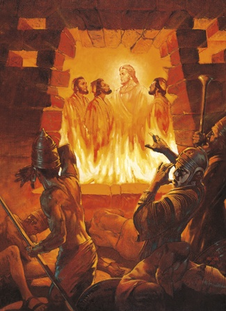 Shadrach, Meshach, Abednego, in the Firery Furnace with the Lord