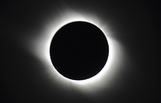 Solar Eclipse, sun darkened