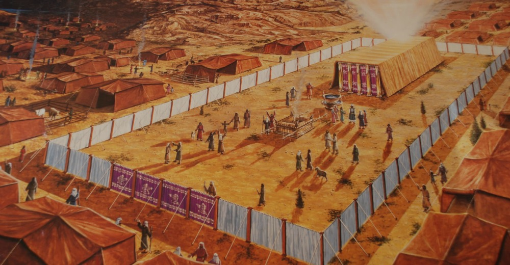 A painting of the Israelite's tabernacle