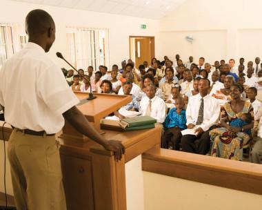 member bearing his testimony