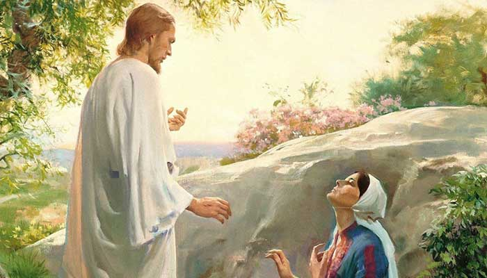 Christ appears to Mary Magdalene near the garden tomb