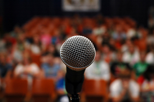 speakers view before giving sacrament meeting talks