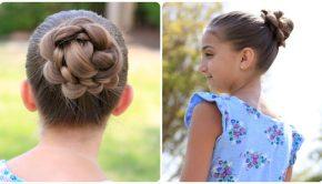 Cute Girls Hairstyles 3D Flower Braid