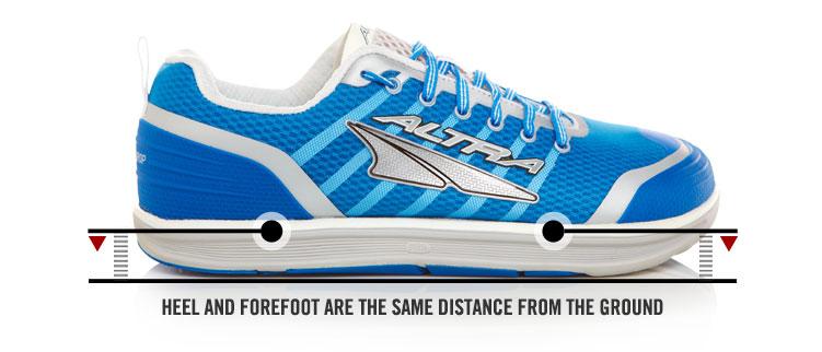 Altra zero drop shoe