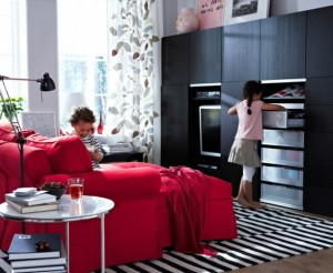 black and red decor