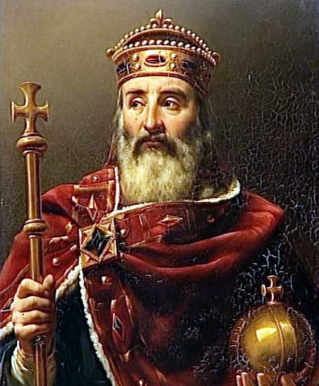 Charlemagne with scepter and sphere