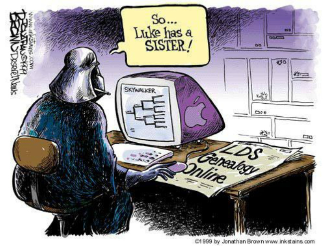 While doing family history, Darth Vader discovers that Luke has a sister