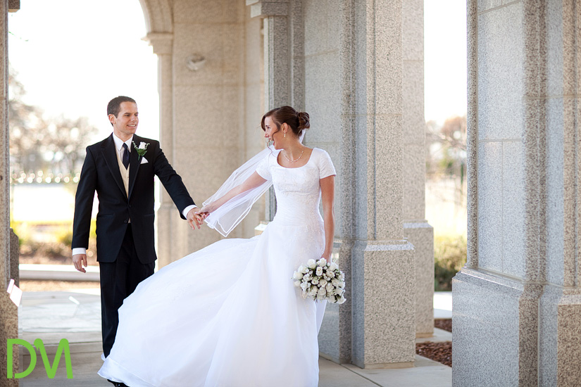 Why staging your perfect wedding might be a bad idea for Mormon temple wedding dresses