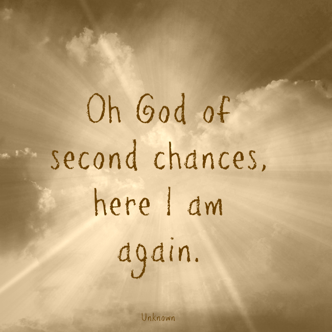 Oh God of second chances, here I am again Women's Conference