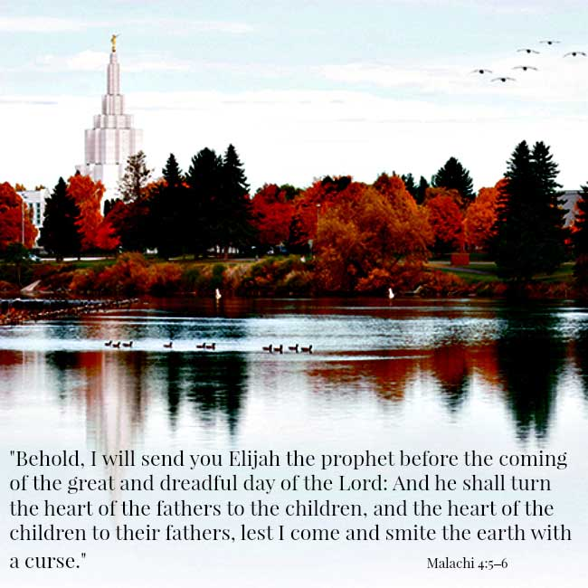 Behold I will send you Elijah the prophet