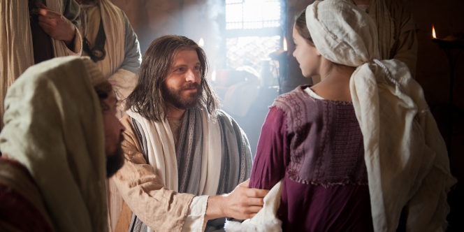 Jesus Raises Jairus' Daughter from the dead