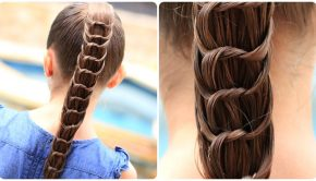 Cute Girls Hairstyles Knotted Ponytail