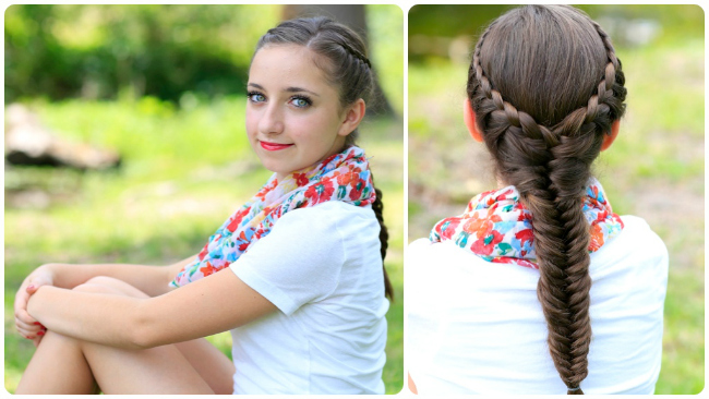 Laced Fishtail Braid Cute Girls Hairstyles