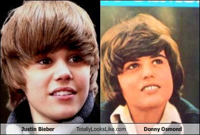 Pictures from Justin Beiber and Donny Osmond's childhood.