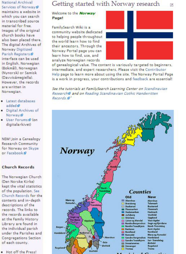 Family Search Norway wiki page