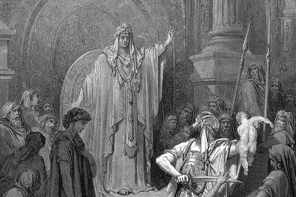 Solomon determines the child's mother