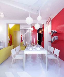 yellow and red decor