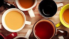 coffee, tea, and wine