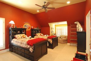 kids red room