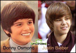Donny Osmond and Justin Bieber