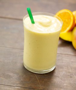 Cool orange mango smoothie