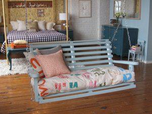 outdoor indoor swing bench