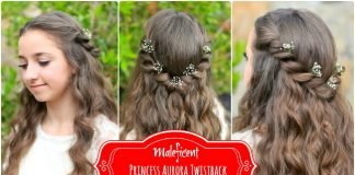 Aurora Twistback Cute Girls Hairstyles