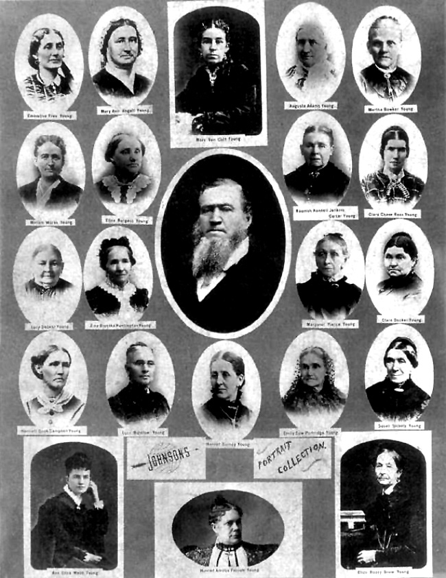 Brigham Young  and wives