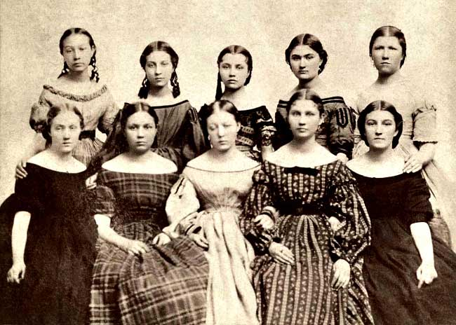 Brigham Young's 10 oldest daughters
