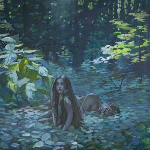 Adam and Eve in the Garden of Eden.